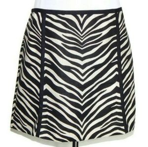 J crew linen zebra miniskirt LIKE NEW